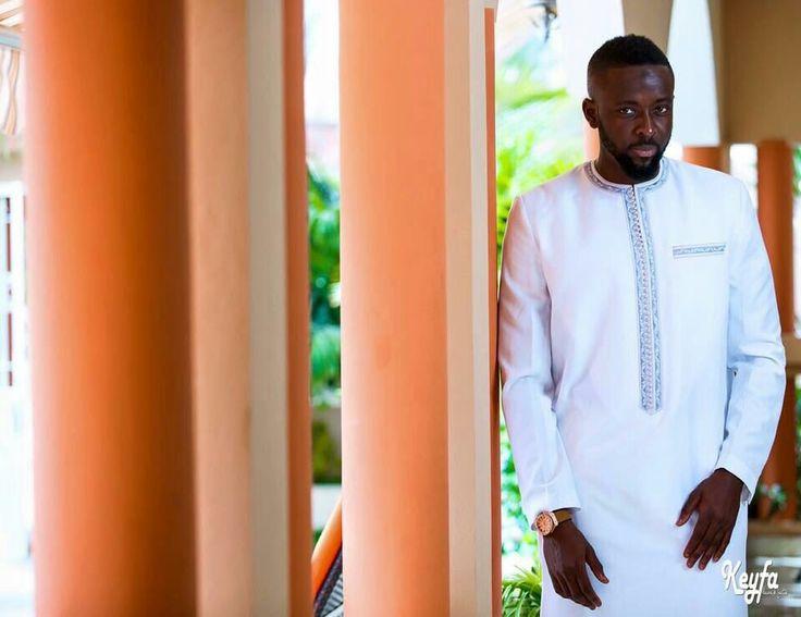 Boubou senegalais bleu ciel