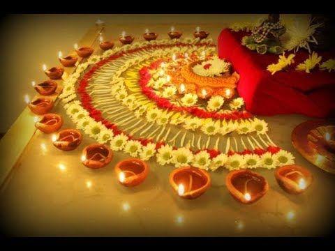 Marigold Flowers Rangoli (NEW) - YouTube