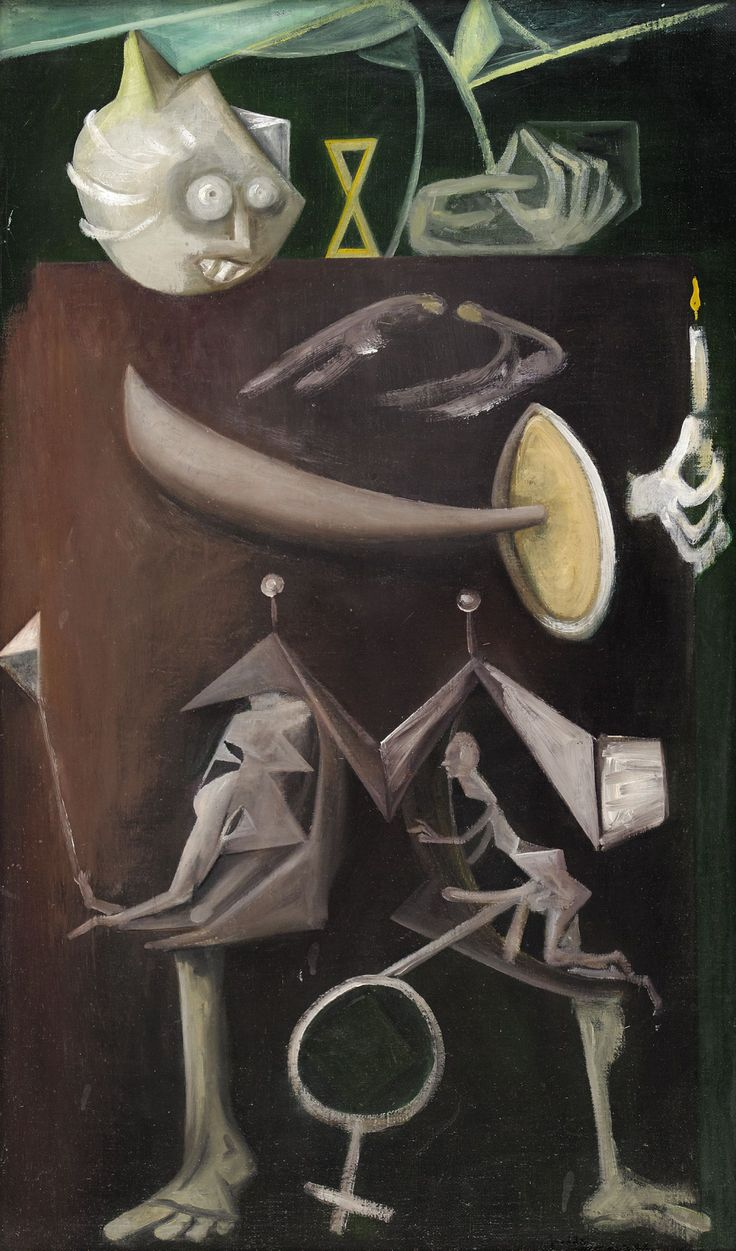Wilhelm Freddie (Danish, 1909-1995), Min søster i Mars og Venus' tegn [My sister of Mars and Venus' sign], 1948. Oil on canvas