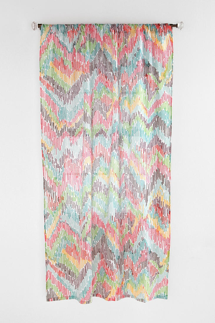 chevron curtain urban outfitters chevron - Patterned Curtains