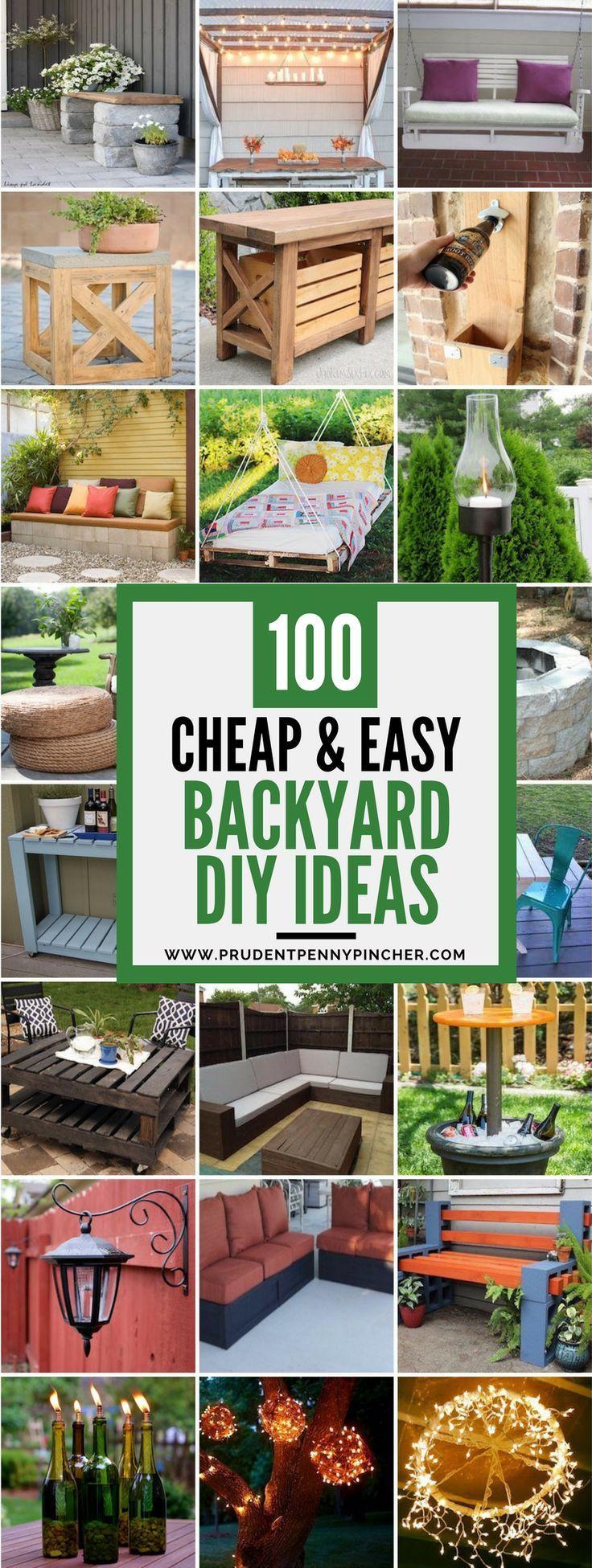 100 Cheap And Easy Diy Backyard Ideas Easy Backyard Diy Easy Backyard Diy Backyard