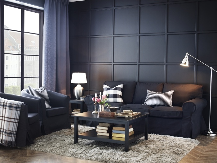 The EKTORP sofa, make it dark and tailored! Quality seating with - ikea einrichtung ektorp