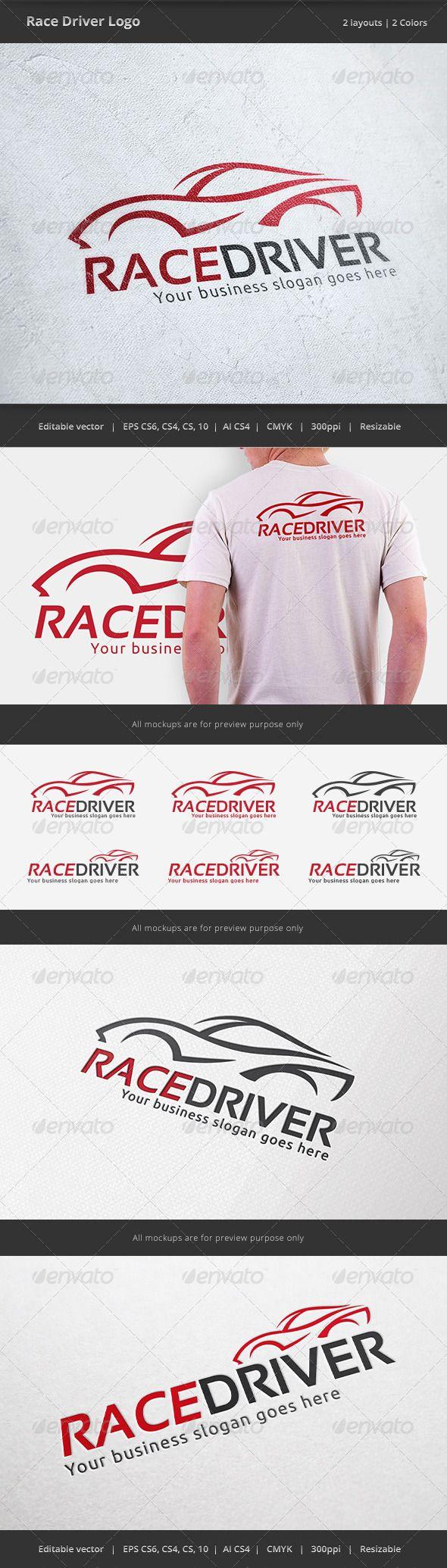 Race Car Driver Logo