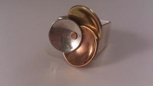 anillo plata cobre y laton