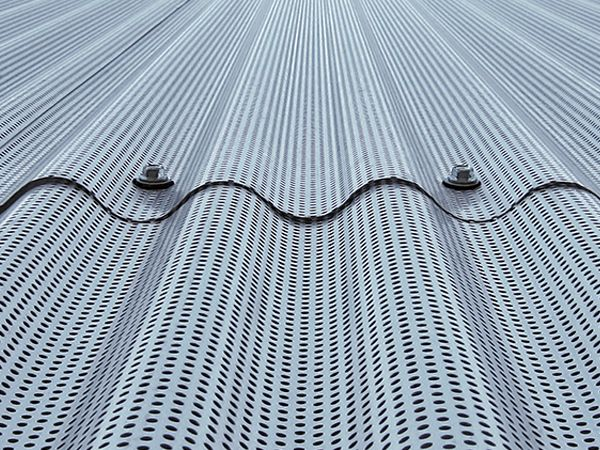 fachada chapa perforada leitat terrassa