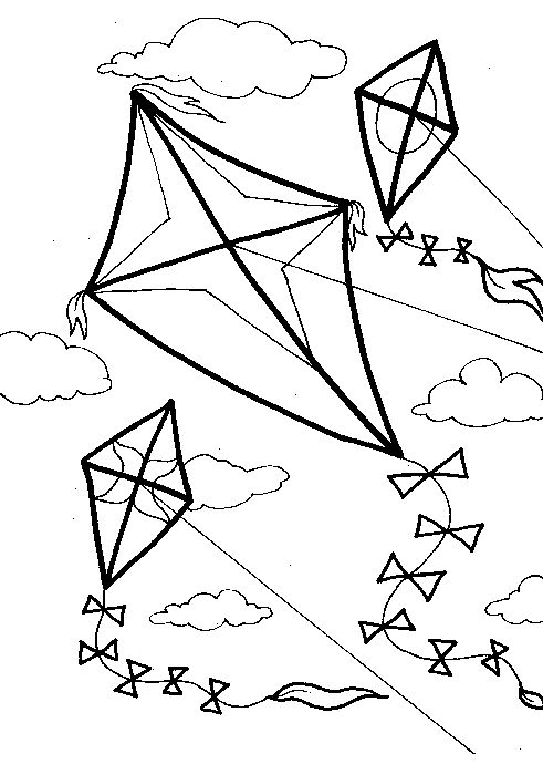 29 Best Images About Kite Coloring Pages On Pinterest Coloring Pages Kite Flying