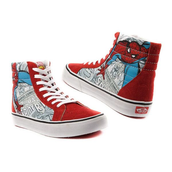 Marvel Chaussures VANS Spiderman, Wolverine, Avengers (officiel) ❤ liked on Polyvore featuring shoes and marvel