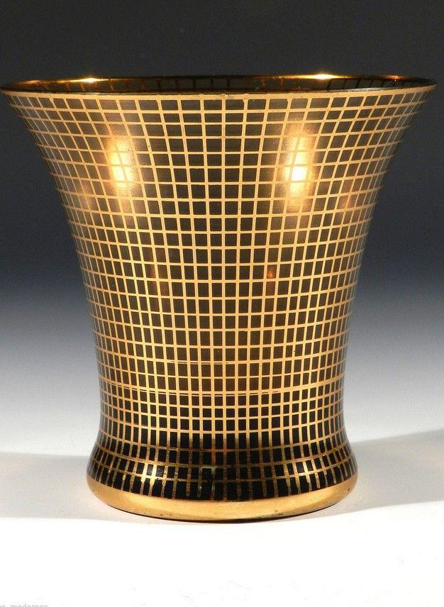 Gebr. PODBIRA Haida Art Deco Glas ° Gittermuster ° Wiener Werkstätte Tradition