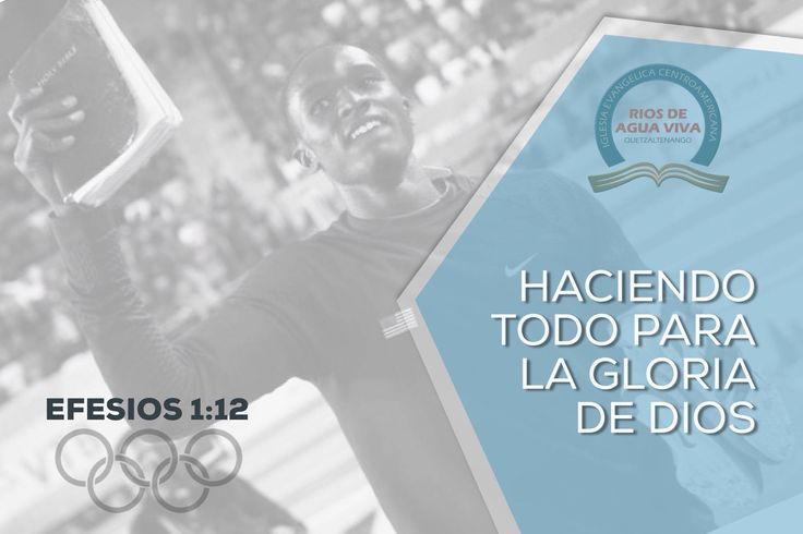 """""""A fin de que seamos para alabanza de su gloria, nosotros los que primeramente esperábamos en Cristo."""" Efesios 1:12 #Rio2016 #SomosGUA #Guatemala #GuateEnRío #Olimpiadas #IcaRiosXela"""