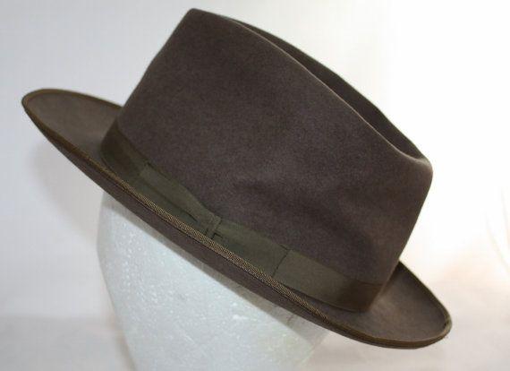 Vintage Men's Hat Royal Stetson Fedora 1930's by ilovevintagestuff