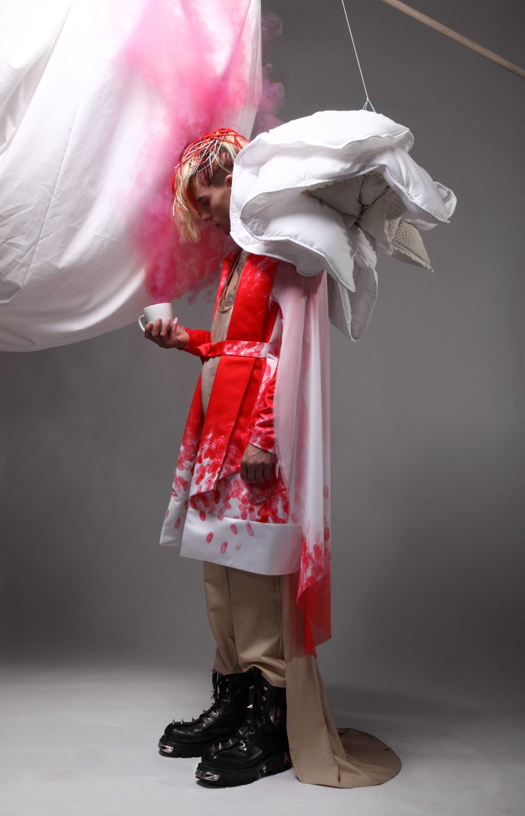 "UNTITLED#1  photos: Frederic Heyman,  styling: Anna Trevelyan,  ""blooded"" coat by: Karolina Piech"