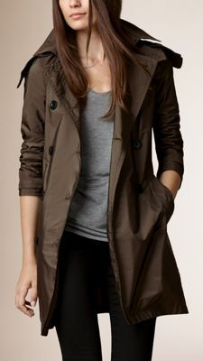 Lightweight Hooded Trench Coat