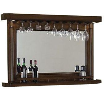 Elite Back Bar W/Mirror by Legacy Billiards | Game Room Bar Mirrors | Den Furniture | Game Room Furniture - American Sale