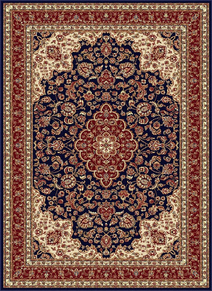 Amazon.com: Universal Rugs Traditional Oriental 7 ft. 10 in. x 10 ft. 3 in. Area Rug , Navy Blue: Kitchen & Dining