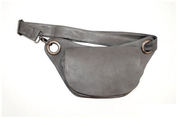 Leather Hip Bag belly bag fanny pack by MONZOON on Etsy, $95.00
