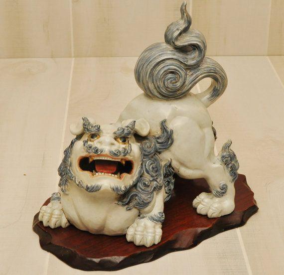 Antique Foo Dog Shishi Dog Meiji Period Japan