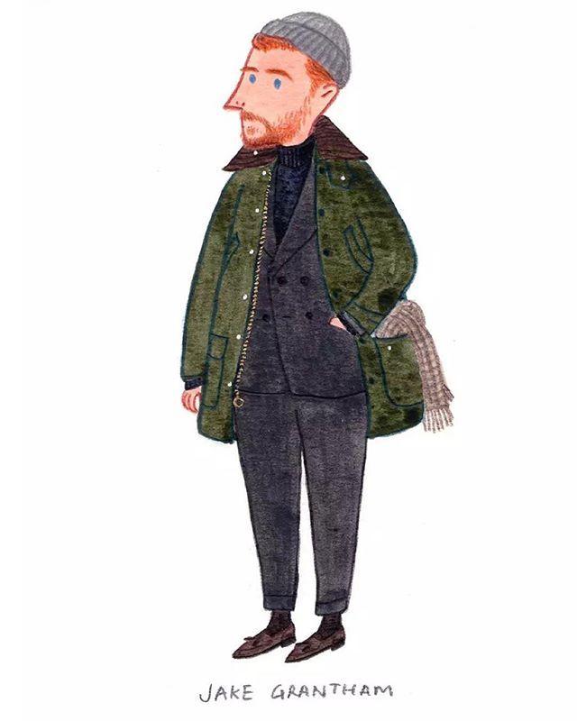 """Dressing conservatively with personality.""-Jake Grantham @cadeandco #thearmoury #mensfashion #sartorial #fashionillustration #pittiuomo #slowboy"