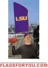 """LSU Tigers Tailgate Flag 42"""" x 20"""""""