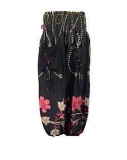 Haremsbukser i genbrugt silkesari  Harem pants vintage silk
