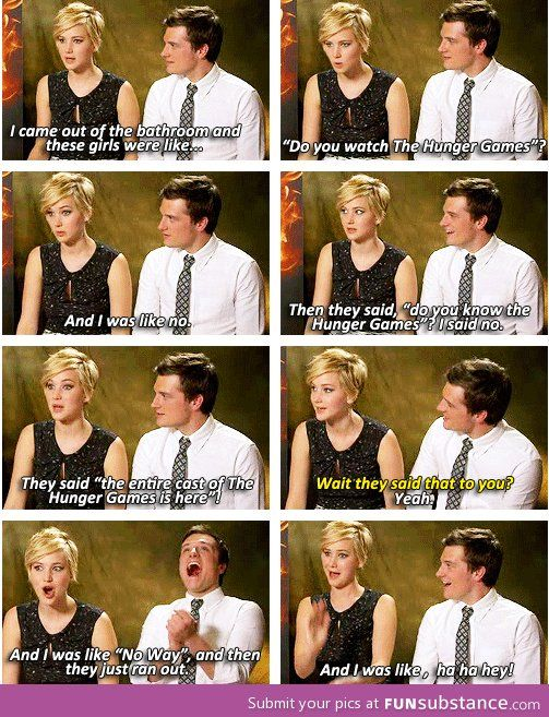 When Jennifer Lawrence goes into a strip club...