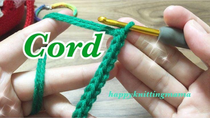 スレッドコードの編み方【かぎ針編み】crochet cord