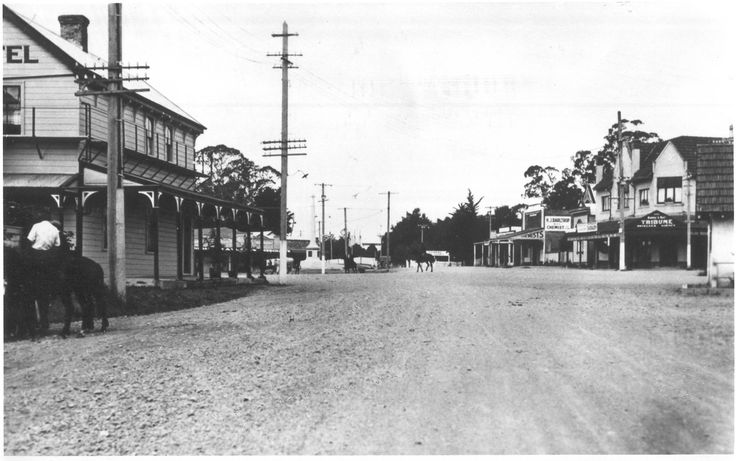 The Village from Te Aute Road, 1920's