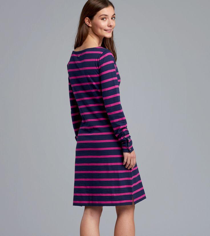 Boat Neck Dress in Preppy Nautical Stripe - Shop All - Women  | Hatley Canada