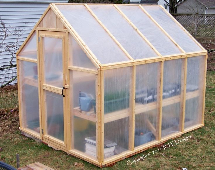 "6'-10"" x 8'-0"" Greenhouse Plans"