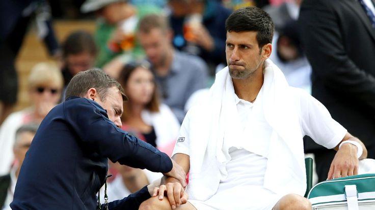 Roger Federer wins in straight sets, while Novak Djokovic retires