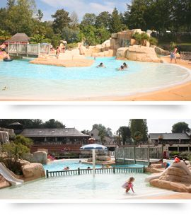 Camping Domaine des Ormes. Camping met enorm waterpark.
