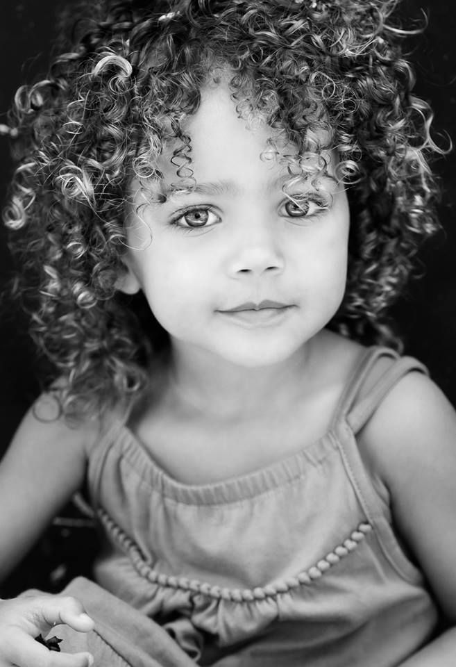 Girl, kid, child, curls, curly, cute, nuttet, adorable, beauty, gorgeous eyes, intense, powerful face, portrait, photo b/w.