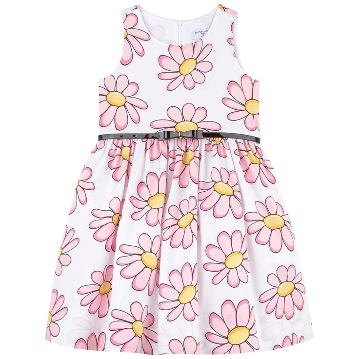 Cotton poplin Fine cotton lining Synthetic tulle Hourglass cut Crew neck Sleeveless Puff shape at the bottom Tulle patch on the lining Very flared bottom Invisible zipper at the back Detachable belt Belt with hooks Flower print Patterns can be placed randomly on each dress - $ 192.50