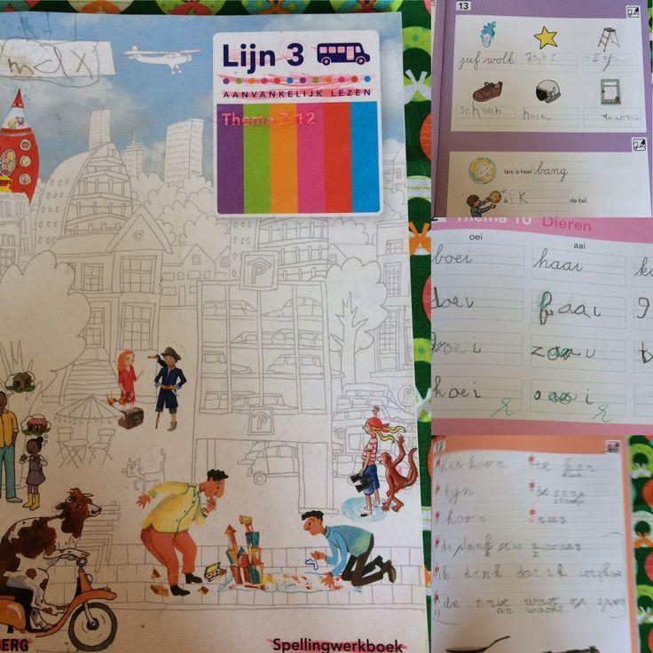 Max, 1e klas, leesmethode lijn 3. Thema 12. Spellingswerkboek