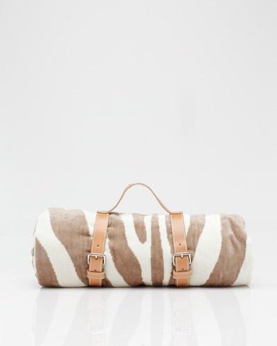 Zebra Towel In Natural, Maslin & Co.