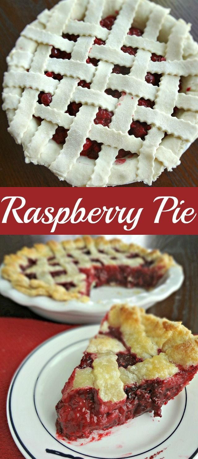 Raspberry Pie-a perfectly simple, classic, fruit pie recipe using slightly tart, slightly sweet raspberries!