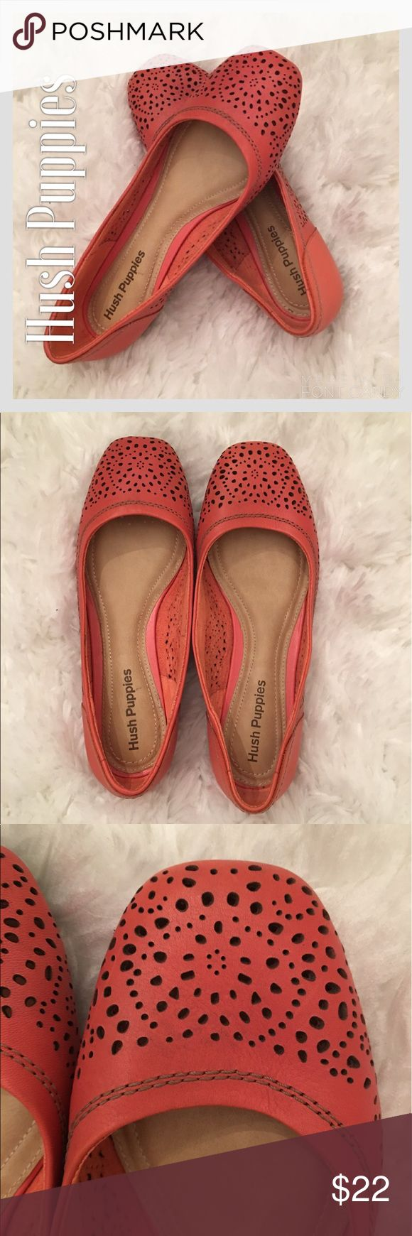 Hush Puppies Coral Ballet Slippers Hush Puppies Coral Ballet Slippers.  Like new. Hush Puppies Shoes Flats & Loafers