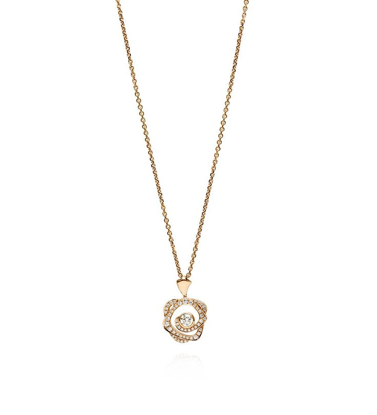 Maymay Rose Diamond Pendant in Rose Gold