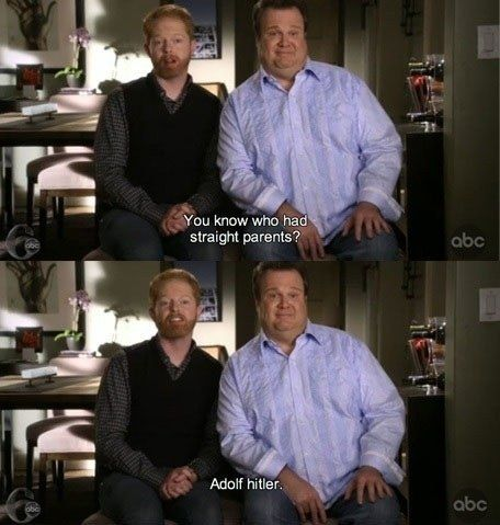 This tidbit from Modern Family's Mitchell.