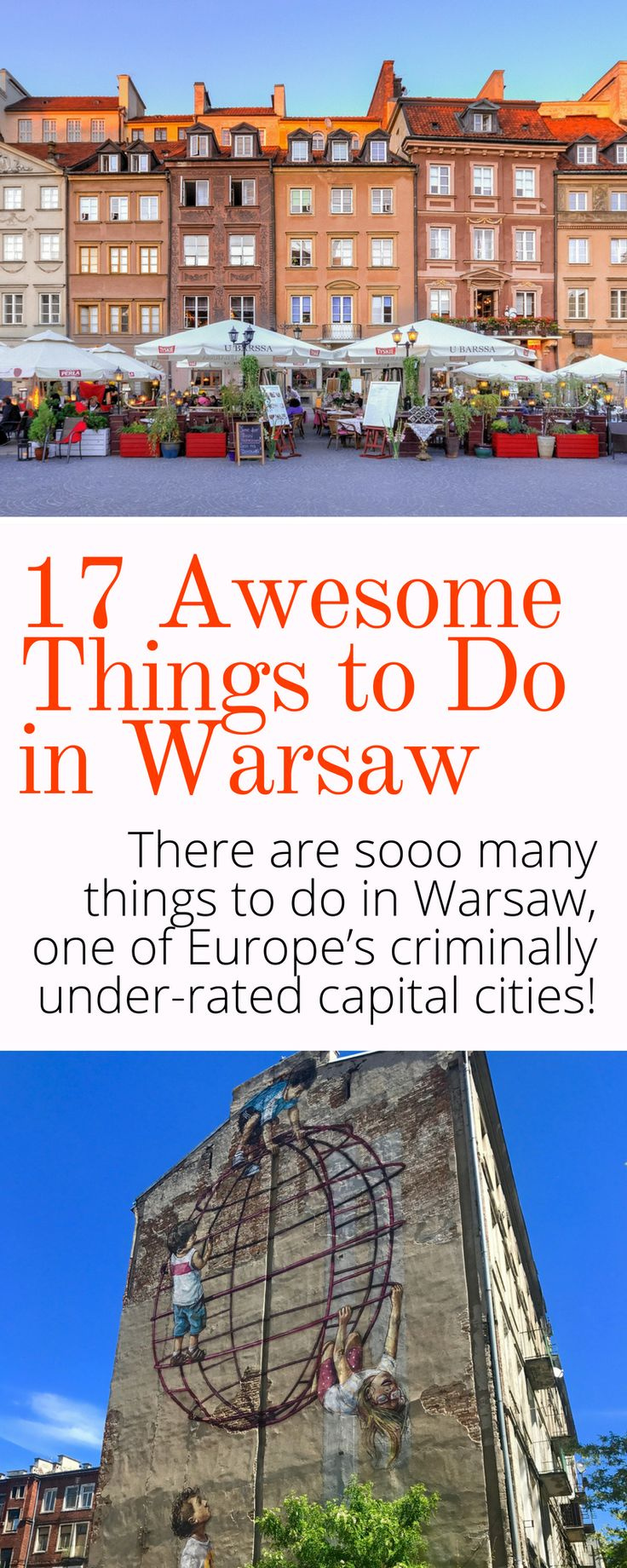 17 Seriously Awesome Things to Do in Warsaw Poland - Hot Chocolate, Beaches, Street Art, History, and more! Click here to discover why Warsaw Poland is totally underrated!