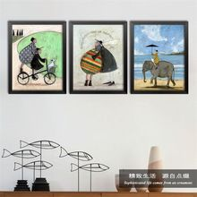 Nordic Retro Abstract Art Canvas Painting Poster Prints Wall pictures for living room kids bedroom Home Decor No Frame DP0277(China (Mainland))