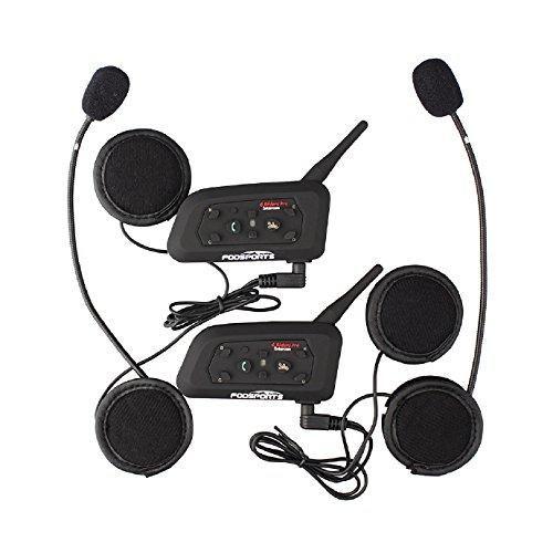 comprar ofertas de Fodsports BT Bluetooth Casco Motocicleta Intercom Altavoces Motocicleta Auriculares Comunicaciš®n Auriculares 1200M Ski FM Ra barato