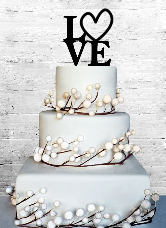 Love 4 Wedding Cake topper Monogram cake topper by CoralMintDesign, $13.00