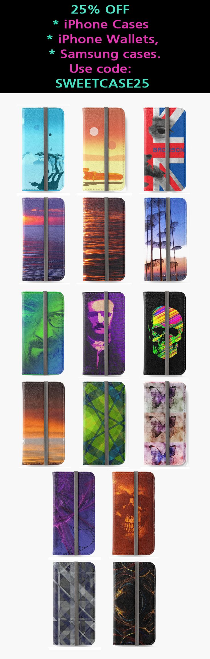 25% OFF iPhone Wallets and Samsung cases. Use code: SWEETCASE25. #sales #discount #save #septembersales #iphonewallet #iphone #iphonecase #style #shopping #onlineshopping #art #movies #family #redbubble #giftsforher #giftsforhim #gifts #geek #nerd