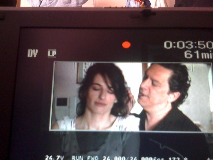 Una scena intensa tra Charlotte (Anita Kravos) ed il marito (Michele Di Mauro).  #italianmoviesilfilm