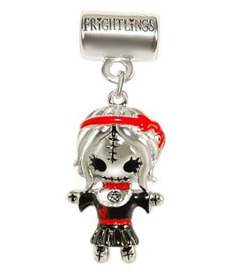 Scarlet Witchling Silver Slider Charm with hand painted enamel touches. £63 inc Scarlet's poem, branded packaging and standard UK delivery. 5mm hole fits most high street snake style chains.