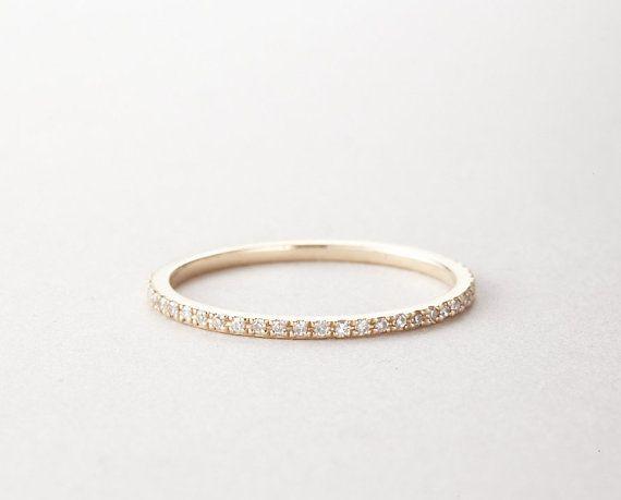 Diamond Eternity Ring Eternity Diamond Band Gold by MinimalVS