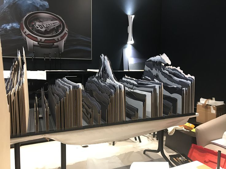 SIHH 2017 Vitrines Stand Ulysse Nardin Designed by Pozzo di Borgo Styling.