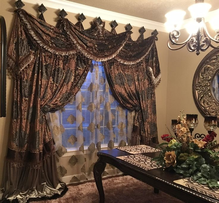 Tuscan Curtains, Elegant Curtains, Brown Curtains, Hanging Curtains, Curtain  Ideas, Band Of, Chocolate Brown, Mink, Country Living