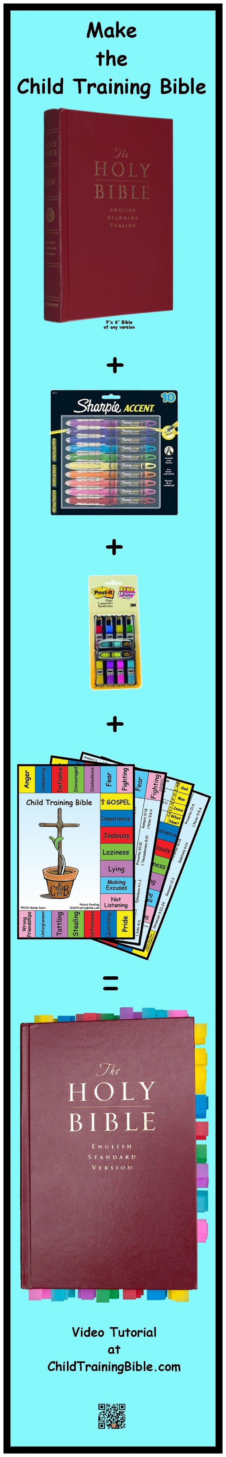 Make the Child Training Bible. Visit www.ChildTrainingBible.com