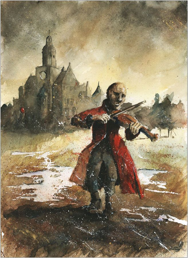 The busker from Repty watercolor